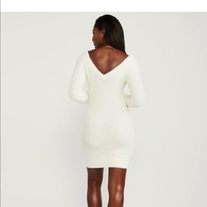 Abercrombie off white V back sweater dress